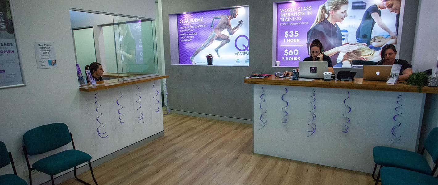 Q Academy Gold Coast Reception Area
