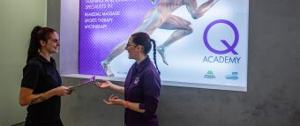 Massage lecture at Q Academy Gold Coast