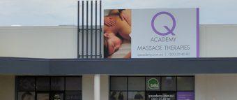 Q Academy Sunshine Coast outside signage